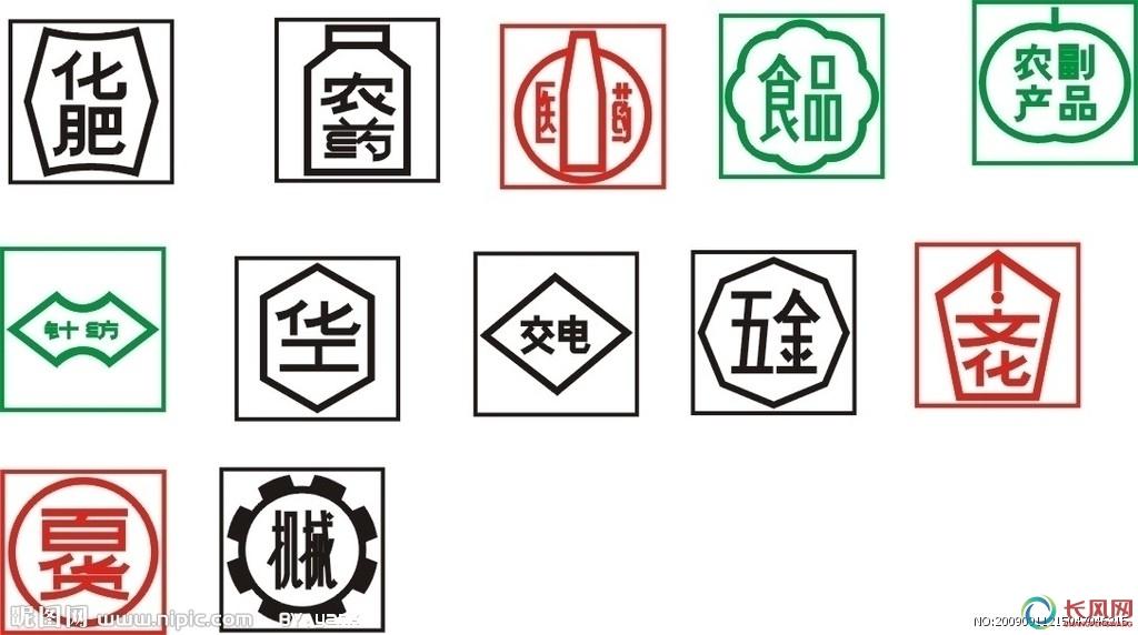 运输包装收发货标志  运输包装收发货标志矢量图
